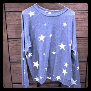 Gray sweater with stars